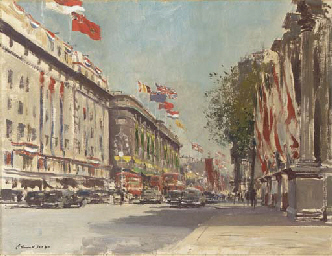 Oxford Street from Marble Arch