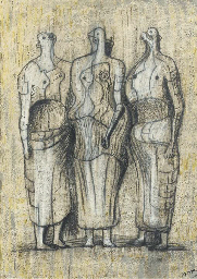 Three Standing Figures 1949