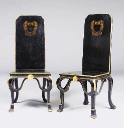 A PAIR OF GEORGE I BLACK AND G