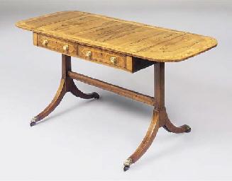 A REGENCY ROSEWOOD SOFA TABLE