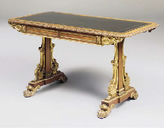 A GEORGE IV SATINWOOD AND PARC