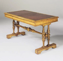 AN EARLY VICTORIAN OAK AND HOL