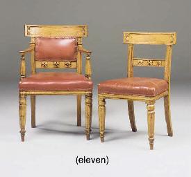 A SET OF ELEVEN GEORGE IV OAK