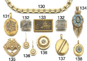 A 19th century gold collar nec