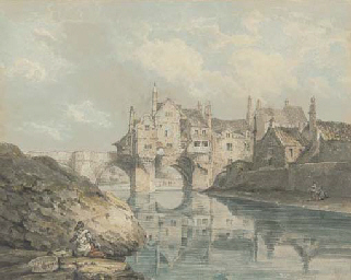 Elvet bridge, Durham, with a w