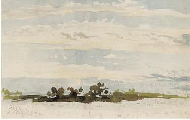 Landscape and sky study