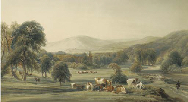 A view of Bolton Abbey, Yorksh