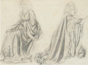 Studies of a woman seated and