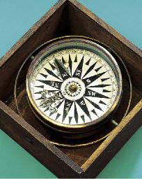 A DRY CARD COMPASS REMOVED FRO