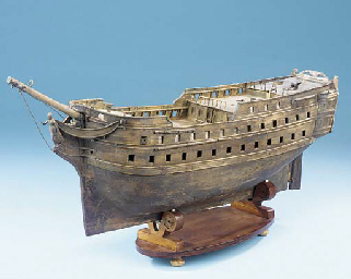 A ?LATE 18TH CENTURY MODEL OF