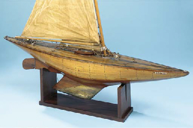 A BERMUDAN-RIGGED PLANKED AND