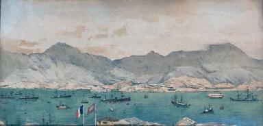 Ships lying at anchor off Hong