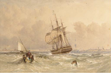 Frigates and a cutter at Spith