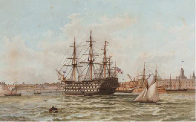 H.M.S. Victory at her permanen
