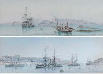 A squadron of cruisers lying i