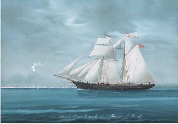 The topsail schooner Olive Bra