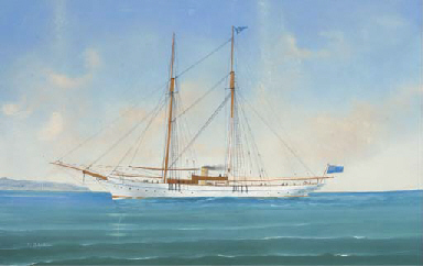 A steam yacht of the Royal Nor