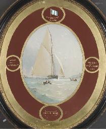 The racing yacht Freda:  At th
