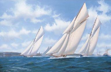 Big class yachts, Vigilant, Br