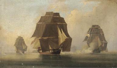 A blazing frigate off a Medite