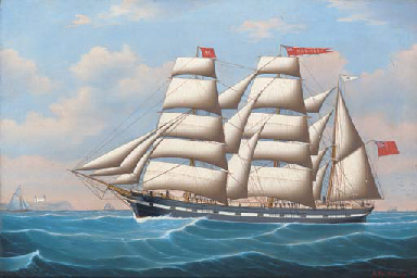 The three-masted barque Manito