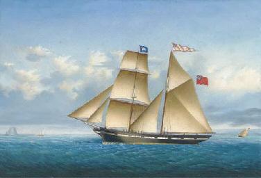 The brigantine Favourite under