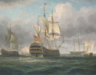 The flagship arriving at her a