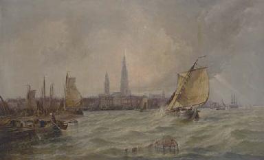 Antwerp on the Scheldt;  Storm