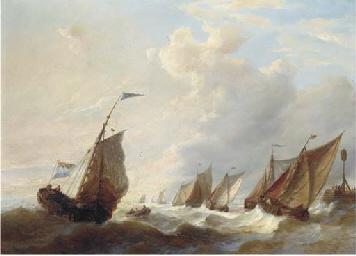 The fishing fleet running out