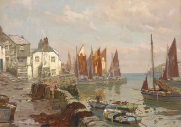 The Fowey fishing fleet in har