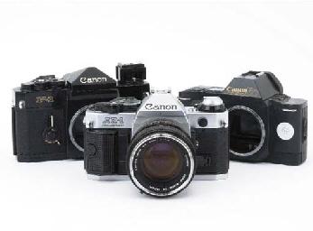 Canon cameras and lenses