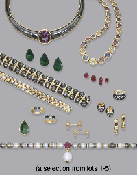 A COLLECTION OF GOLD AND GEM-SET JEWELLERY, BY POIRAY, GOLD MOUNTS AND...