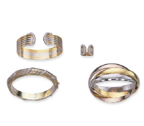 TWO GOLD BANGLES, BY CARTIER A