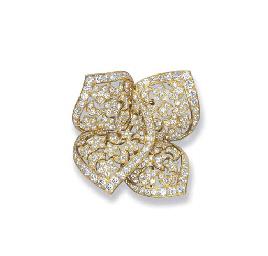 A DIAMOND 'SIRIUS' BROOCH, BY