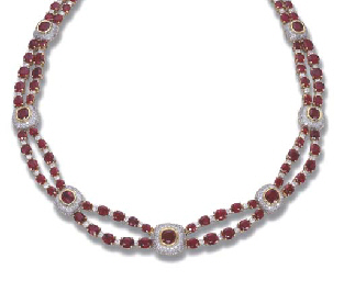 A BURMESE RUBY NECKLACE