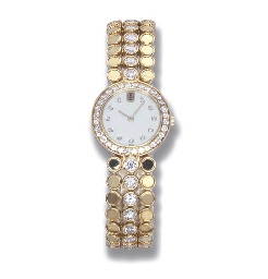 A DIAMOND WRIST WATCH, BY HARR