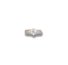 A DIAMOND 'FLEURETTE' RING, BY
