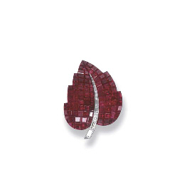 AN EXQUISITE RUBY AND DIAMOND