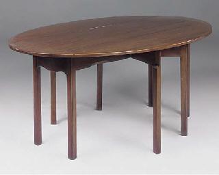 A MAHOGANY WAKE TABLE