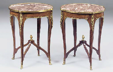 A PAIR OF FRENCH GILT METAL MO