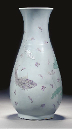 A lavender gazed slender pear-