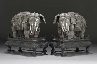 A pair of Mongolian embellishe