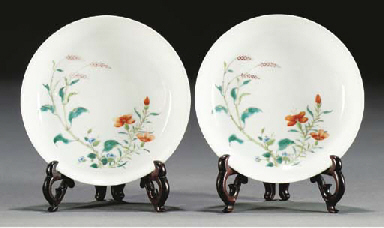 A pair of saucer dishes, 19th
