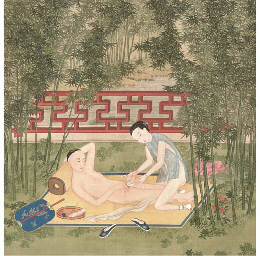 A pair of Chinese erotic paint
