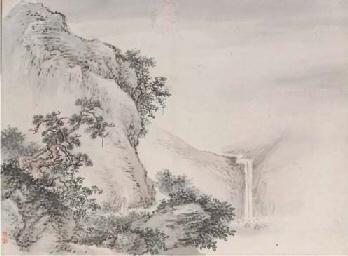 Nine Chinese album leaves, ink
