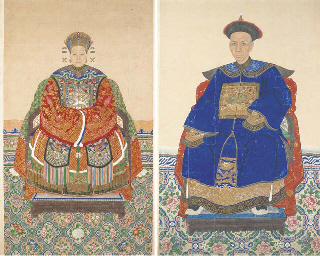 A pair of Chinese ancestor pai