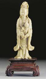 A soapstone model of Guanyin a
