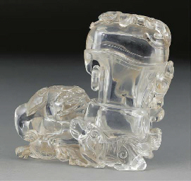 A clear rock crystal tapering