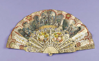 A chromolithographic fan, the