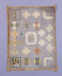 A darning sampler, worked with